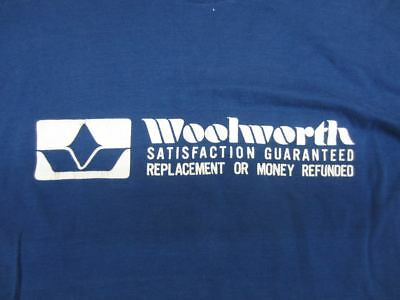 Vintage THANK YOU FOR SHOPPING WOOLWORTH Blue T-Shirt advertising department