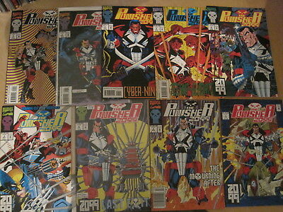 PUNISHER 2099 : RUN of issues 1 - 9 of 1993 MARVEL SERIES by PAT MILLS & SKINNER
