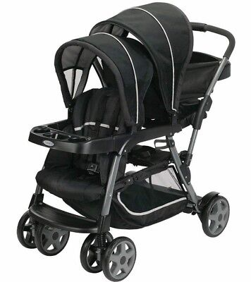 Graco Ready2Grow Click Connect Double Stroller - Onyx - Brand New! Free Ship!
