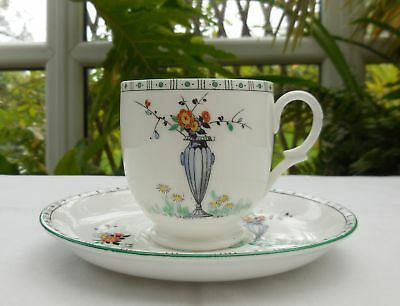 Rare Shelley China 11600 Urn & Flowers Pattern Cup & Saucer c1925-45