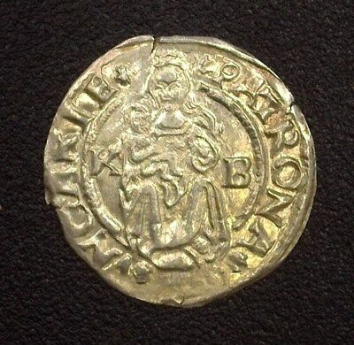 Holy Roman Empire 1542-Kb Ferdinand I Denar - Madonna & Child - Uncirculated