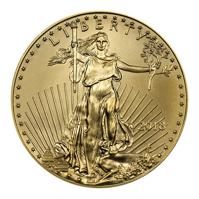 2018 1/4 oz Gold American Eagle $10 GEM BU Coin SKU50865