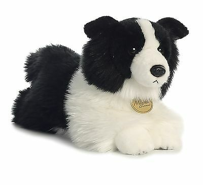* New AURORA MIYONI Stuffed Plush Toy BORDER COLLIE Animal SHEEPDOG Black White