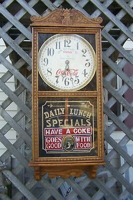 Early 1900's Coca Cola Clock  Rare Advertising Woolworth Co