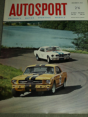 Autosport December 9th 1966 *Ford Cortina GT Road Test & Bahamas Speed Week*