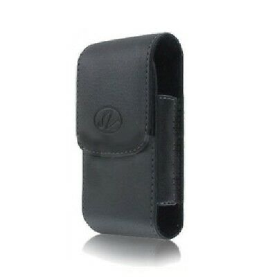 Black Vertical Leather Cover Holster Case Pouch For Kyocera Cadence LTE S2720