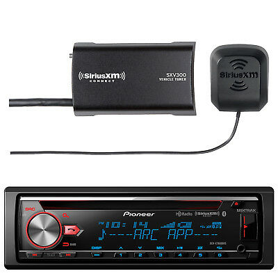 Pioneer CD Receiver, with  SiriusXM Satellite Radio Connect Tuner Kit