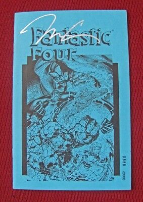 """1996 """"fantastic Four"""" Marvel Comics Numbered Edition Booklet Signed By Jim Lee"""