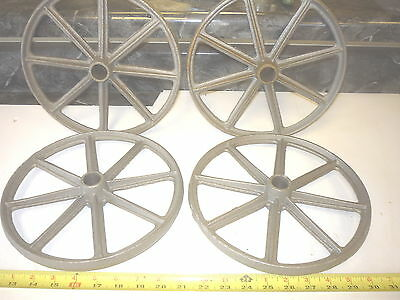 4 Old Style Toy Wagon Craft Maytag & Gas Engine Cart Wheel 8 Spoke