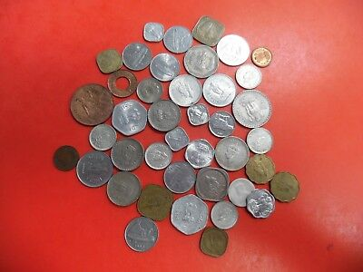 Lot of (41) Coins from India Various years and denoninations