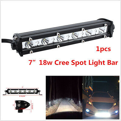 "1p 18W 7"" Cree LED Work Light Bar Spot Beam Offroad 4WD UTE SUV Fog Driving Lamp"