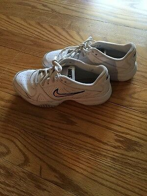 Nike Girls Pink & White Tennis Shoes Size 5Y Gym Sneakers Back To School Worn 3x