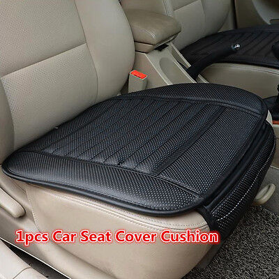 Black PU Bamboo Charcoal Car Seat Covers Pad Breathable Autos Seat Cushion Mat