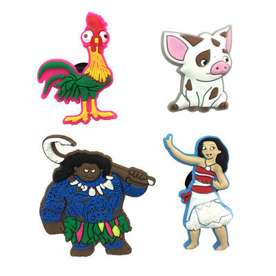 Mixed 50PCS Moana Shoe Charms Shoes Accessories Fit in Shoes Kids Xmas Gifts