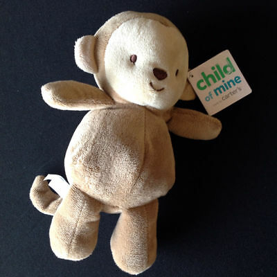 Child Of Mine Carters Monkey Rattle Crinkle Toy Lovey 63221 New Nwt