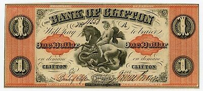 1861 $1 The Bank of Clifton - CANADA Note