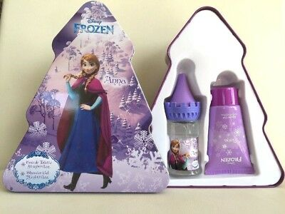 Disney Frozen Anna Perfume/  Eau De Toilette & Shower Gel Xmas Tree Tin Gift Set
