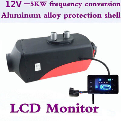 12V 5000W Truck Diesel Air Heater Tank Heating Time Temperature Digital Switch