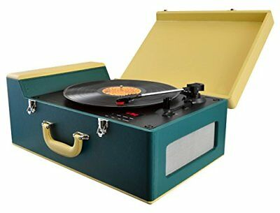 Pyle PTCDS8UBT Classic Style Vinyl-to-MP3 Bluetooth Speakers Turntable