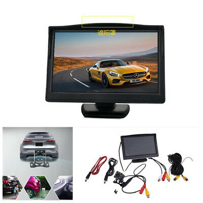 5 Inch LCD Car Rearview Monitor& 8LED Night Vision Reverse Backup Parking Camera