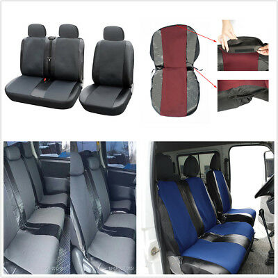 Transporter Truck Pickup Grey 1+2 Front Seat Protector Covers Artificial Leather