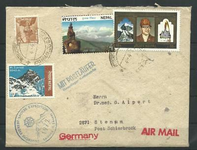 Nepal Brief Deutsche Everest-Lhotse Expedition 1972 (34514