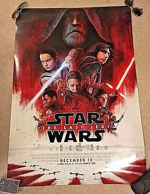 STAR WARS: THE LAST JEDI Final Doubled-Sided (D/S) Movie Poster 27x40 ~NEW~
