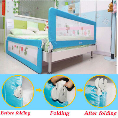 Kids Baby Children Safety Bed Rail Guard Protector Folding 180cm