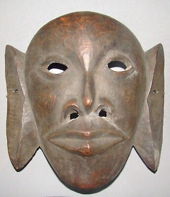 antique vintage African Wood Wooden Face Head Mask Carved Ethnographic CHINESE ?