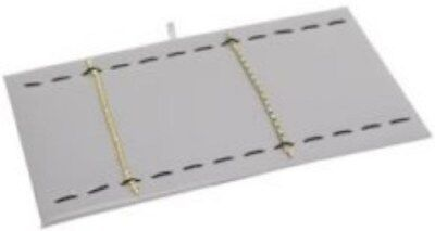 """Jewelry Display Fixtures 2 NEW 14""""x7"""" BRACELET/WATCH PADS WITH ELASTIC WHITE FLK"""