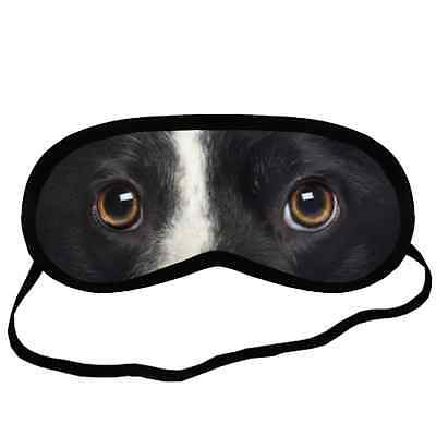 BORDER COLLIE EYES Dog Puppy Lovers Comfort Small-Med Size SLEEP MASK Gift