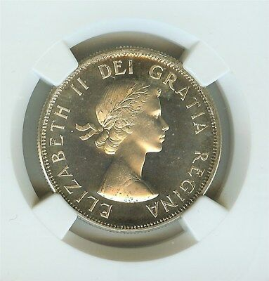 Canada 1957 Silver 50 Cents Ngc Pl67 Cameo