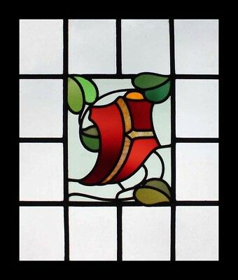 Stunning English Arts & Crafts Antique Stained Glass Window