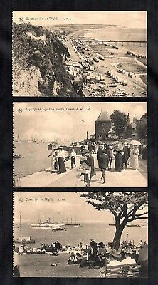 3 Rare Vintage Postcards Isle Of Wight Early 1900s Cowes Yachts Sandown Bathing