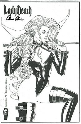 Lady Death Revelations 1 INCENTIVE edition signed Brian Pulido COA FREE UK POST