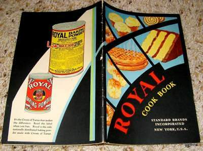 Royal Baking Powder Cookbook 1932 Cook Book