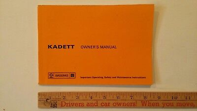1976 OPEL Kadette - Owner's Manual -  Excellent Condition (GER)