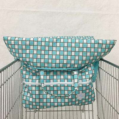 Baby Toddlers Safety Harness Blue High Chair Grocery Trolley Shopping Cart Bag