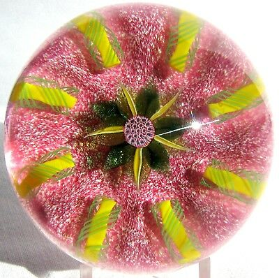 Briefbeschwerer / Paperweight PAUL YSART Flower Head, Harland Glassworks