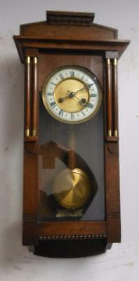 arts and crafts oak cased  wall clock