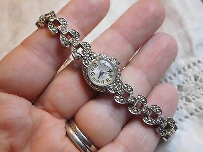 Beautiful Vintage 1950s Marcasite Dress WATCH in lovely condition
