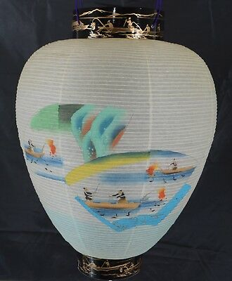 Gifu Lantern Ozeki Japan Never Used Still in Box Paper Hanging Lantern Excellent