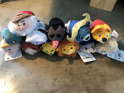 Large Lot Of 12 Tsum Tsum Disney Brand New With Tags Zootopia Marvel Snow White