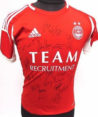 ABERDEEN FOOTBALL CLUB Hand Autographed with 20 Signatures Football Shirt - I10