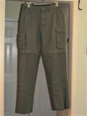 BSA Boy Scout or Leader Convertible Pants 34-36 Relaxed Long 35 Zip-Off Unhemmed