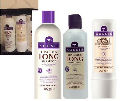 Aussie Luscious Long GIFT SET SHAMPOO +  CONDITIONER + 3 MINUTE DEEP TREATMENT