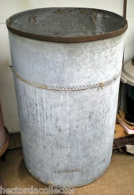 SALE!! HUGE Rare Antique Primitive 160 Gallon Galvanized Rain Barrel Shabby Chic