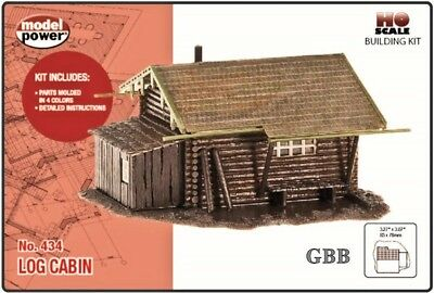 HO 1:87 Scale LOG CABIN Kit Model Power New in Sealed Box 434