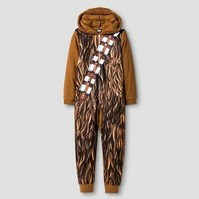 New Star Wars Chewbacca Costume Union Fur Hooded Pajamas Large 14