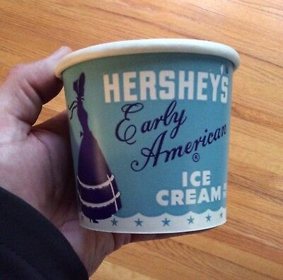 Vintage Hershey PA Early American Ice Cream Container Lady Siloette Lady Nice!
